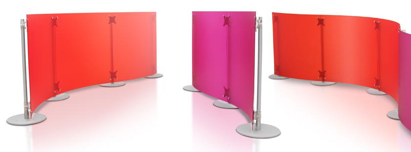 pannelli divisori per stand e uffici