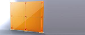 pareti divisore pannelli componibili