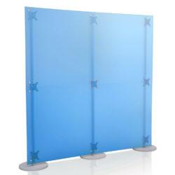 Parete divisoria azzurra 2x2 mt.