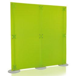 Parete divisoria verde 2x2 mt.