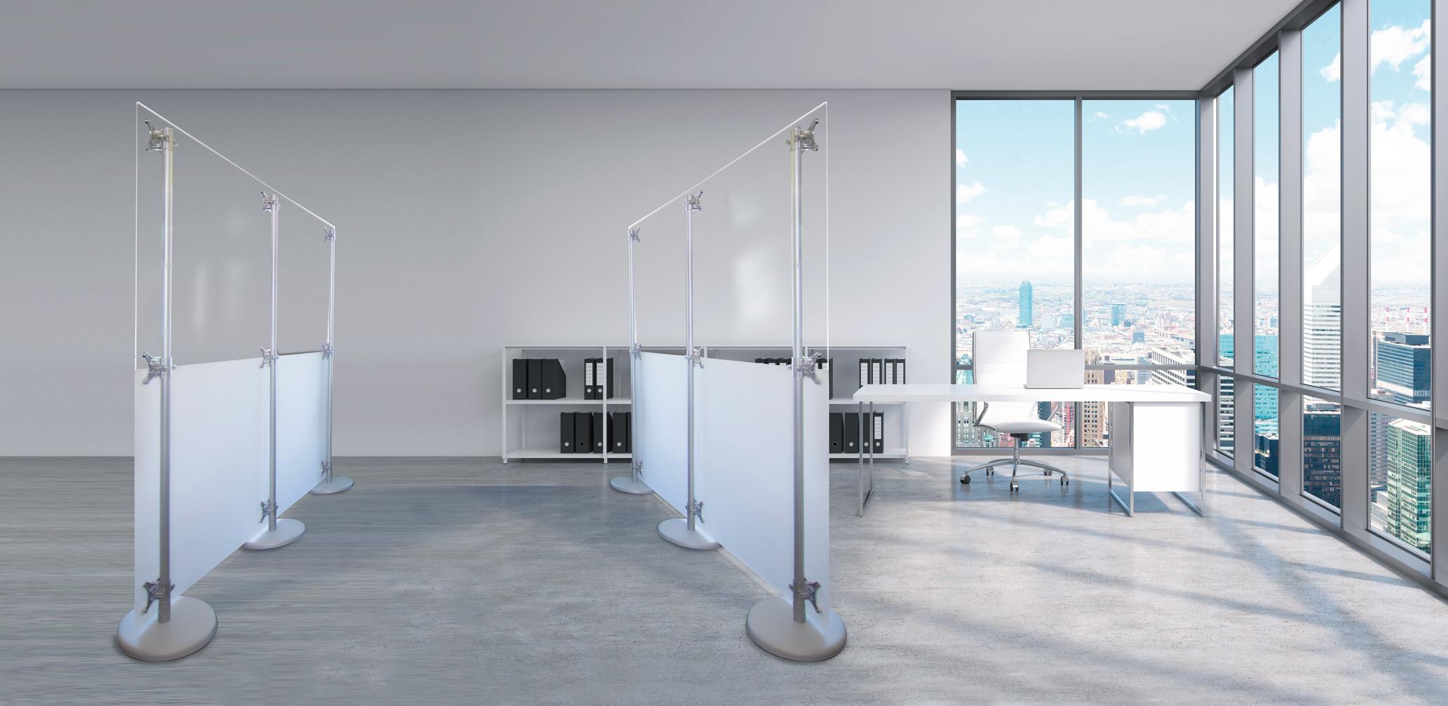 pareti divisorie in plexiglass per uffici e negozi