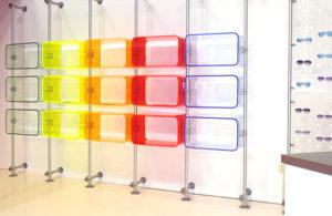 ripiani componibili plexiglass