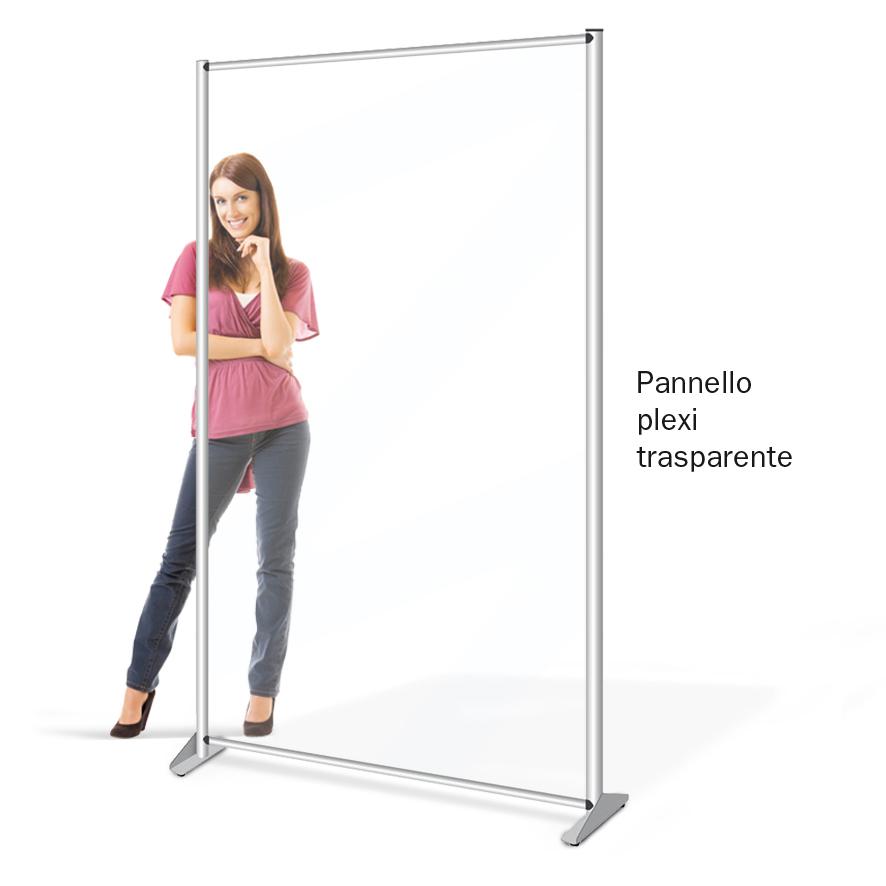 pannelli divisori in plexi trasparente