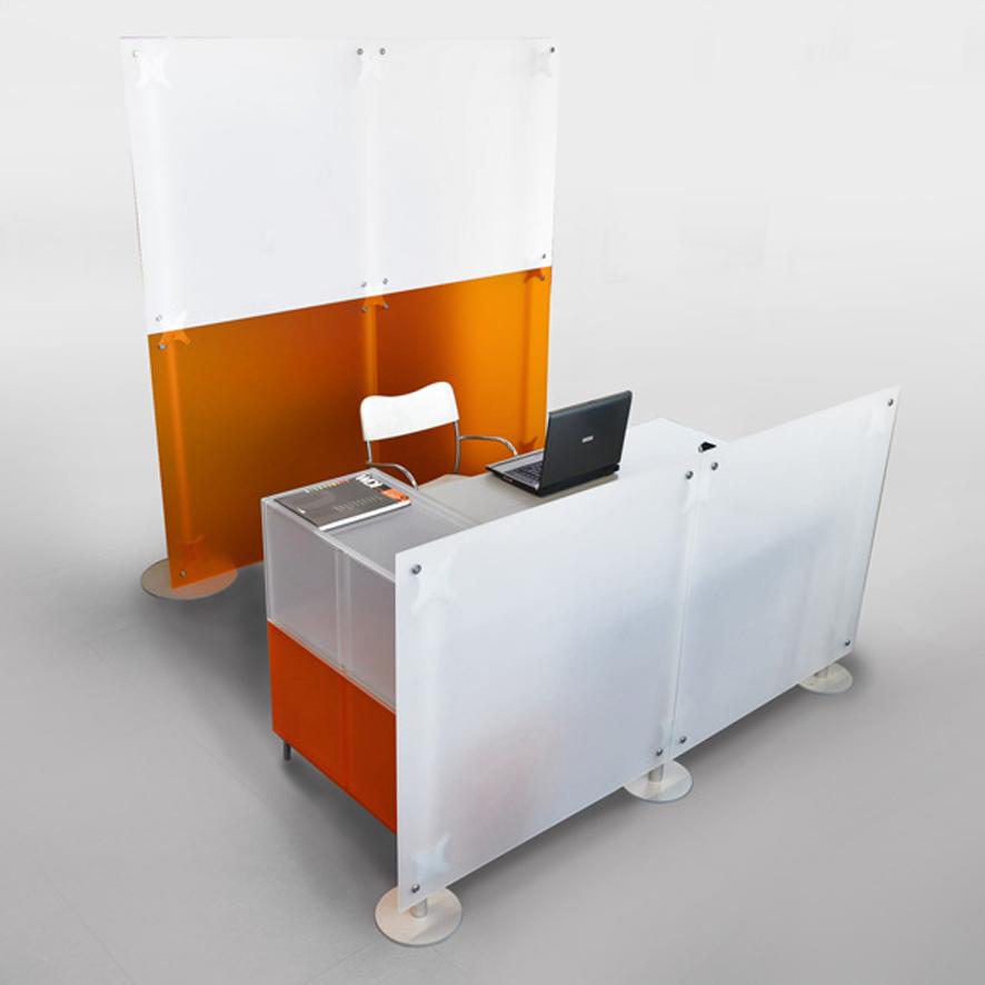 pareti divisorie componibili reception