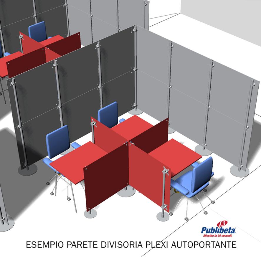 pareti divisorie plexi per ufficio