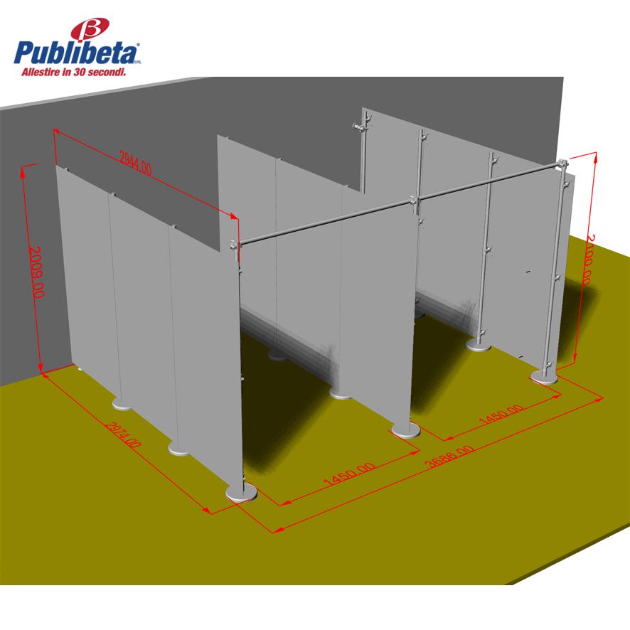 divisori pareti divisorie per spogliatoi, centri eststici