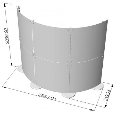 configurazione pareti divisorie in plexi